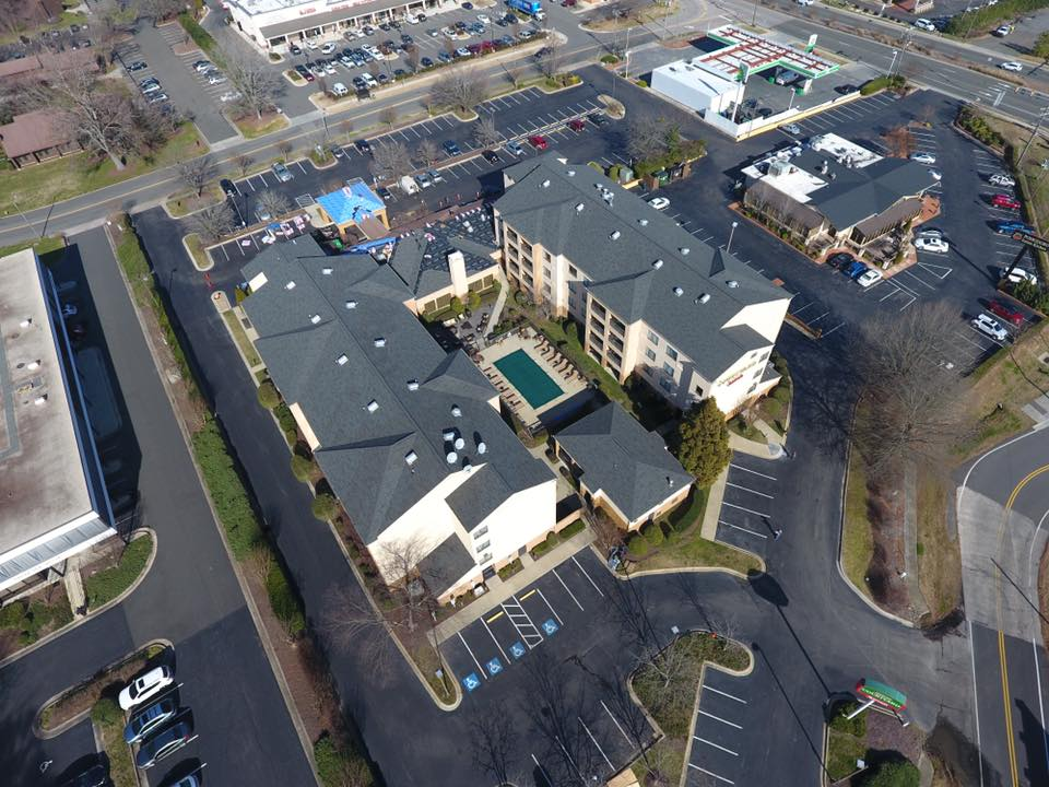 Commercial Roof installed by Lanier Roofing