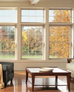 A vinyl window installed by Lanier in upstate SC.