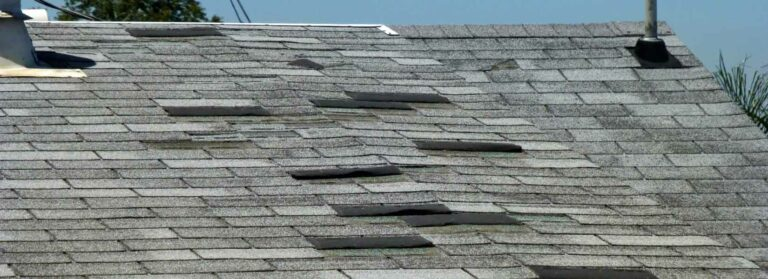 Picture of a bad job done by roofers